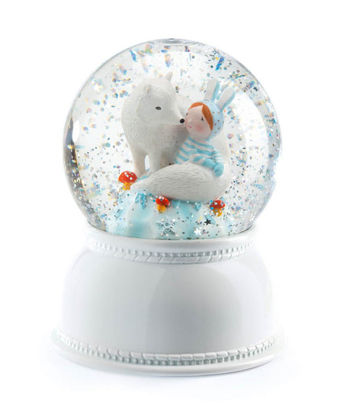 Little Big Room Djeco Lila and Pupi Night Light Snow Dome