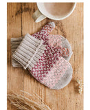 Uimi Isla Fairisle Pattern Kids Merino Mittens: Butterscotch