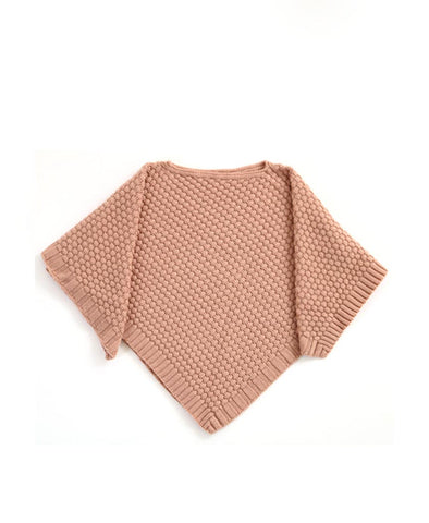 Uimi Bellamy Basket Weave Stich Poncho. Tea