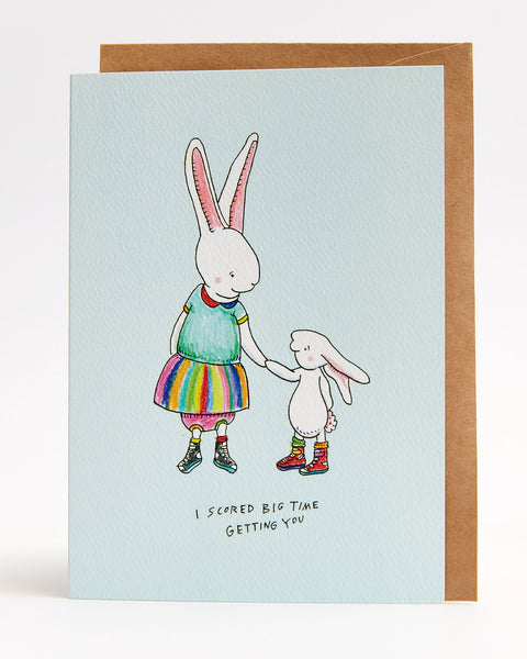 Wally Paper Co: Bunny Love Card