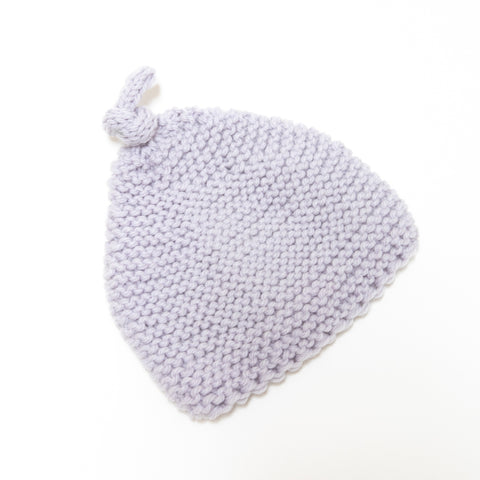 Knitted By Nana Beanie - Ghost 3-9M