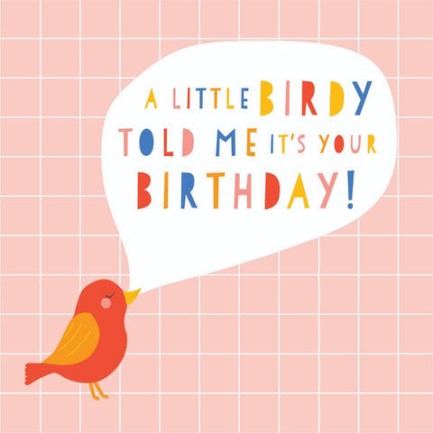 Kaiser Style Sunshine Little Birdy Birthday Card