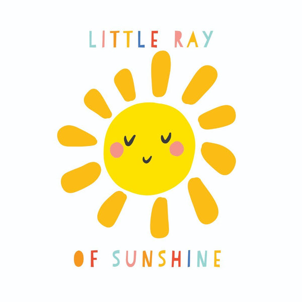 KaiserStyle Sunshine Little Ray of Sunshine Baby Card