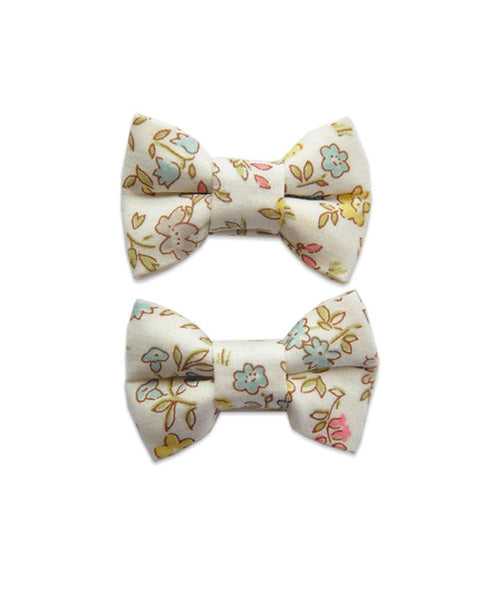 Pretty Wild Katie Twin Bow Clip Liberty Danish Floral
