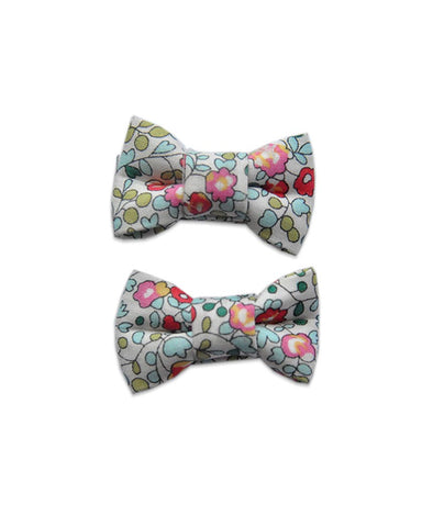 Pretty Wild Katie Twin Bow Clip Liberty Eloise Greens