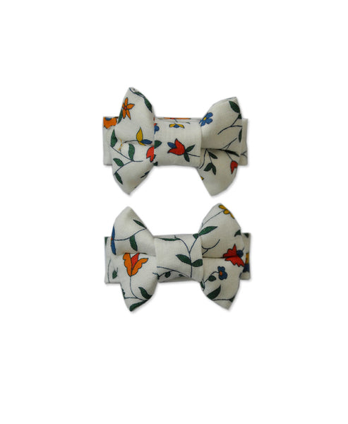 Pretty Wild Katie Twin Bow Clip Liberty Summer Vines