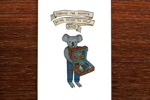 The Nonsense Maker Koala Dad Card