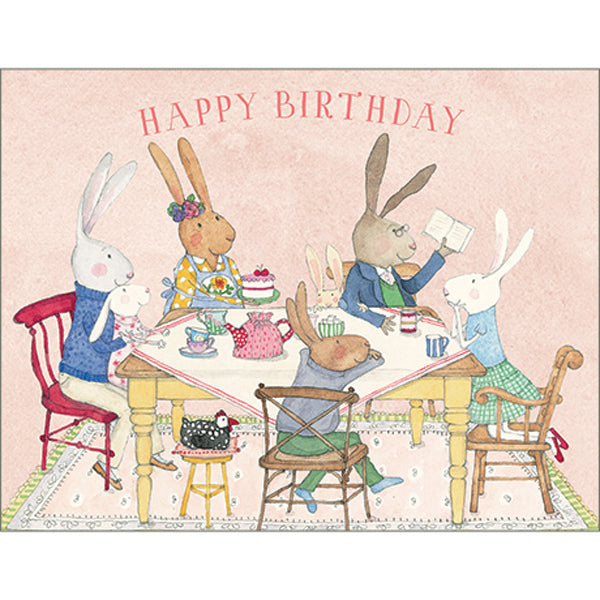 Ruby Red Shoes Happy Birthday Table Card