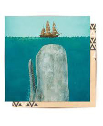 La La Land The Whale Greeting Card
