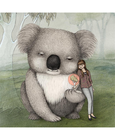 Lalaland Giant Koala Greeting Card