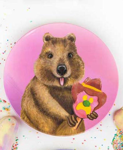 Lalaland Ice Cream Critters Plate Quokka Bubble O Bill
