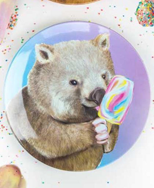 Lalaland Ice Cream Critters Plate Wombat Rainbow Paddle Pop