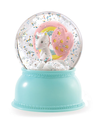 Little Big Room Djeco Unicorn Night Light Snow Dome