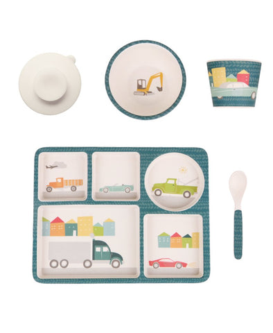 Love Mae Bamboo 5pc Set - Cars