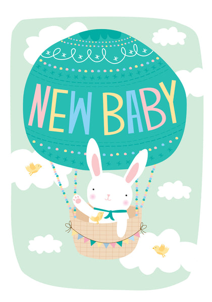 Little Red Owl Card - New Baby Balloon