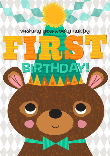 Little Red Owl Card First Birthday