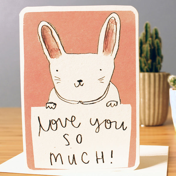 Laura Skilbeck Love You So Much Bunny Card