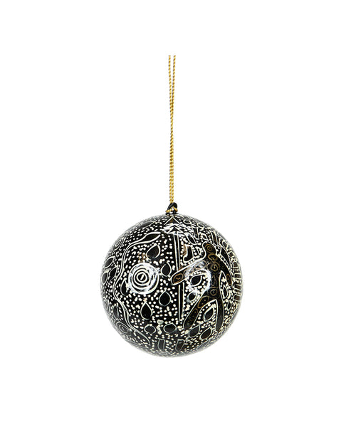 Lacquered Indigenous Bauble Spirit Man (Black)