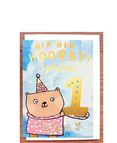 Laura Skilbeck Cards One Today Gold Bear
