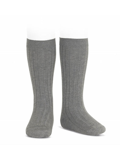 Condor Knee Hi Ribbed Sock (#230 Light Grey)