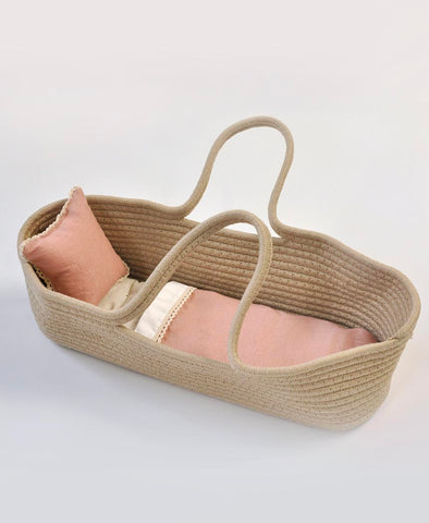 Pretty Wild Little Carrier Bassinet Blush Linen