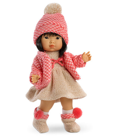 Llorens Spanish Doll - Valeria in Skirt with Pink Jacket and Beanie