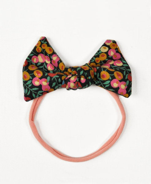 Pretty Wild Lucille Bow Elastic Headband Cranberry