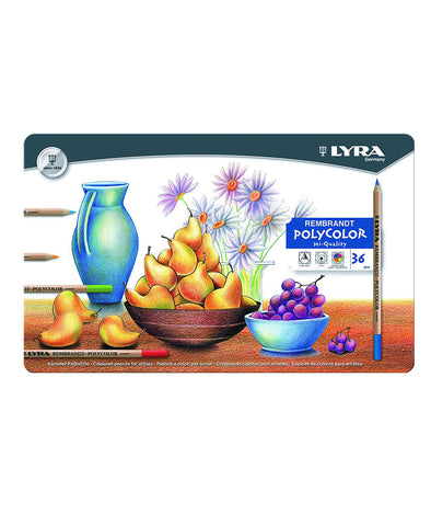 Lyra Rembrandt Polycolor Pencils - 2001360 - 36 Pack Tin