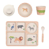 Love Mae Bamboo 5pc Set - On Safari