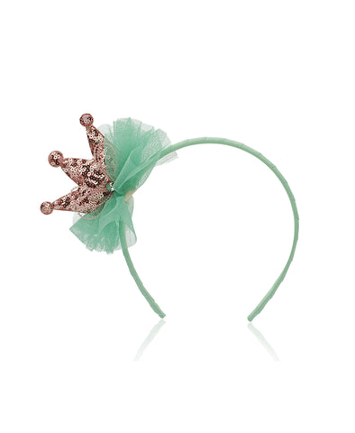 Milk & Soda Little Princess Headband - Mint/Champagne