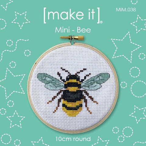 Make It Mini Cross Stitch Kit - Bee