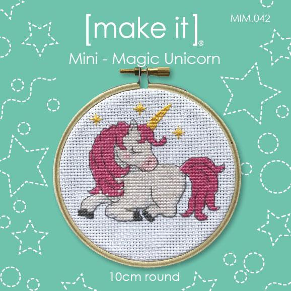 Make It Mini Cross Stitch Kit - Magic Unicorn