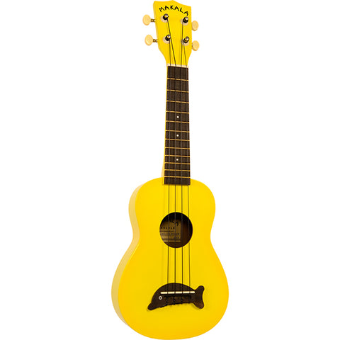 Makala Dolphin Bridge Soprano Ukulele Solid Yellow Gloss