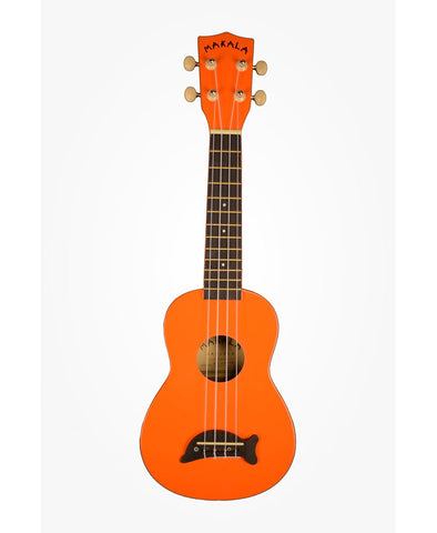 Makala Dolphin Bridge Soprano Ukulele Solid Orange Gloss