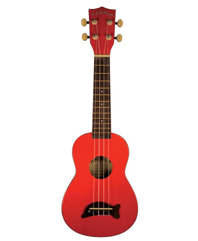 Makala Dolphin Bridge Soprano Ukulele Solid Red Gloss