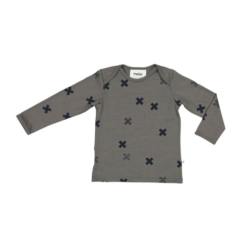 Mello Merino Mini L/S Tee Sherwood / Big Bang