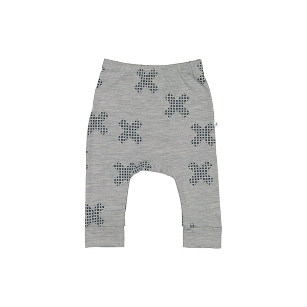 Mello Merino Mini Slouch Pant Grey Marle / Space Junk