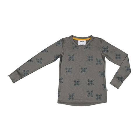 Mello Merino L/S tee Sherwood / Big Bang