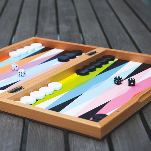 MoMA Colourplay Backgammon Set