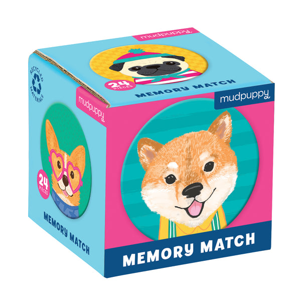 Mud Puppy Mini Memory Game Dogs