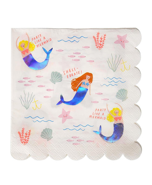 Meri Meri Let's Be Mermaids Napkins Large