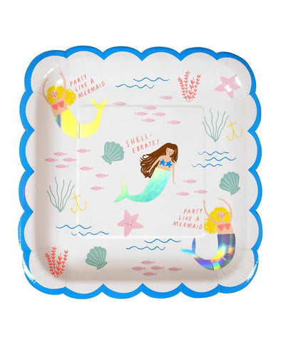 Meri Meri Let's Be Mermaids Plate Large