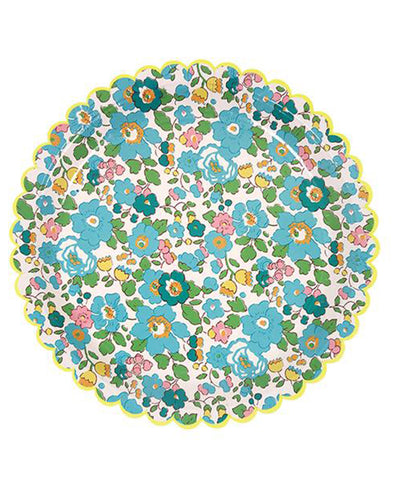 Meri Meri Aqua Haze Liberty Small Plates (12 Set)