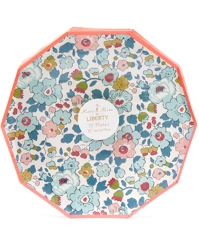 Meri Meri Blue Betsy Liberty Small Plates (12 Set)