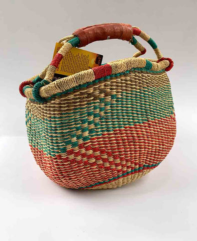 Inside Africa Genuine Hand Woven Medium Basket 25cm **PLEASE READ SALES NOTE**