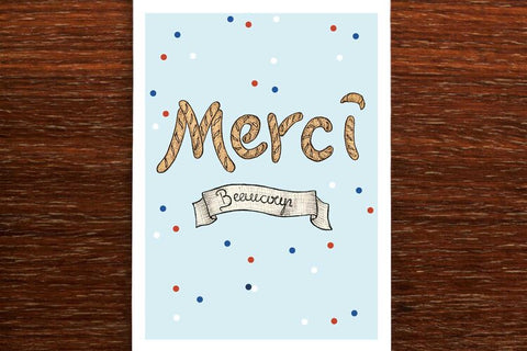 The Nonsense Maker Merci Beaucoup Card