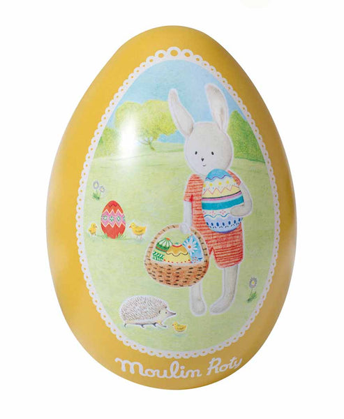 Moulin Roty Metal Easter Egg Tin Yellow