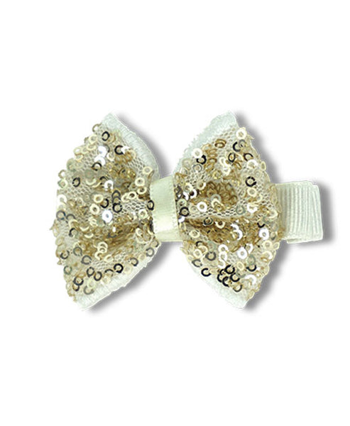 Milk & Soda Sequins Bow Clip Gold
