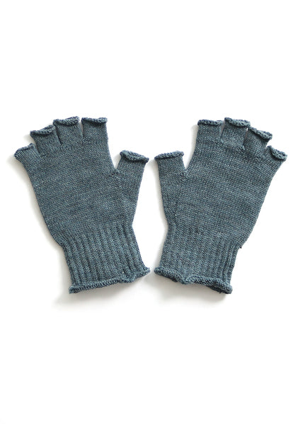 Uimi Milo Merino Fingerless Gloves: Duck Egg - One Size