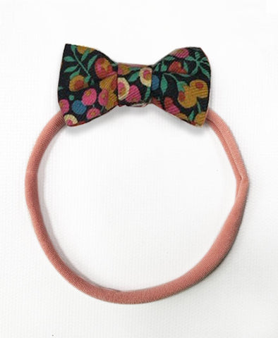 Pretty Wild Minnie Baby Bow Elastic Headband Cranberry